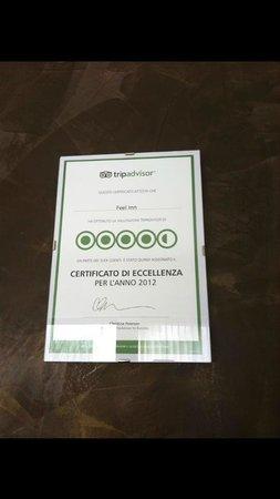 Feel Inn : Non mi stupisce il certificato d'eccellenza!