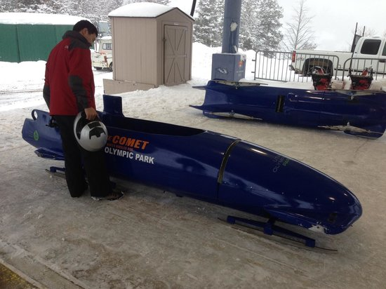 Utah Olympic Park : Bobsled in staging area
