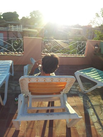 Casa OsmaryAlberto: chilling out & relaxing at the upper solarium terrace