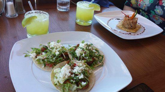 GR Caribe by Solaris: Fish tacos and tuna on tostada, at Bogavente.