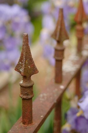 Yates House Bed & Breakfast: Wrought Iron Fence