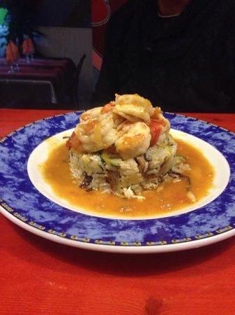 Restaurant La Movida : les gambas de la st valentin