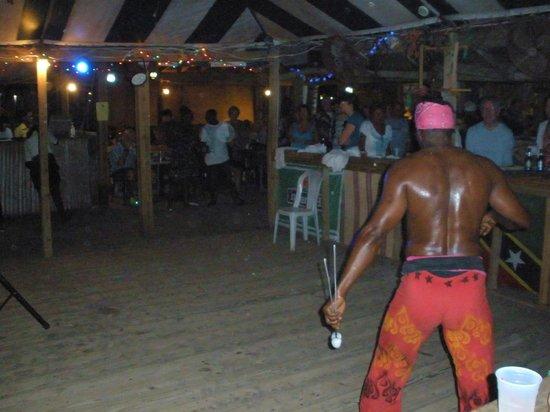 Mr. X's Shiggidy Shack Beach Bar : Fire Dancer at Shiggidy Shack