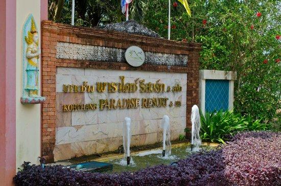 Koh Chang Paradise Resort & Spa : Entrance of the Resort