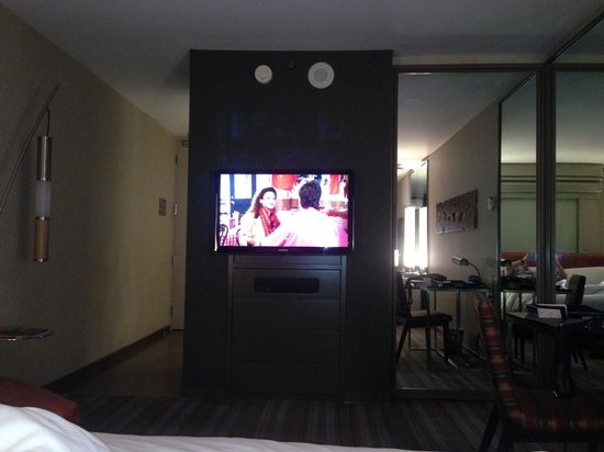 MGM Grand Hotel and Casino : Tv with Dresser Drawers, Closet on Right
