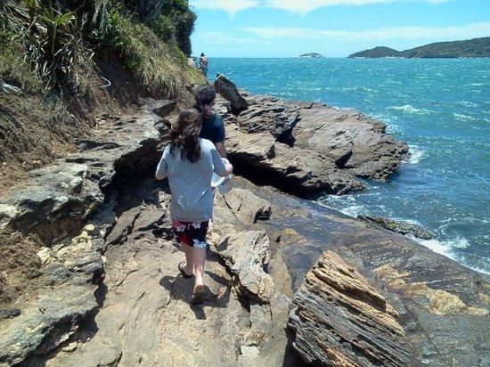 Praia Canto: Praia do Canto camiando hacia Praia dos Amores