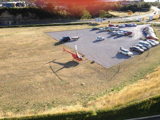 Hilton Lake Taupo : Helecopter Landing