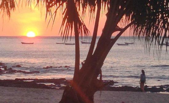 Hotel Luamey: Sunset at Playa Tamarindo (5 min walk)