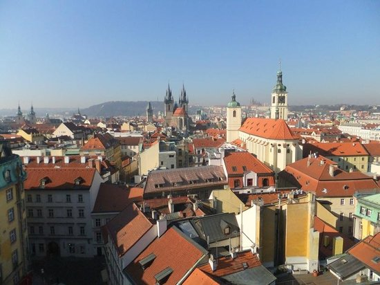 Hotel Paris Prague: Rooftop view of Tyn church in main square