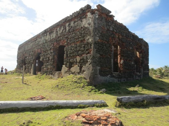 Toa Baja, Puerto Rico: Ruins at Isla De Cabras Recreational Park