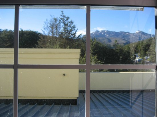Chateau Tongariro Hotel : Restricted view from 'upgraded' room