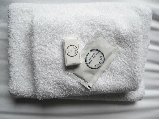 1 Lexham Gardens: gli asciugamani erano 3 grandi e 2 piccoli per 3 persone, ma solo 3 grandi dopo il 1°cambio