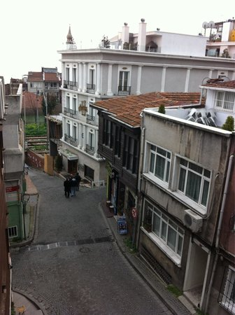 Mevlana Hotel: Street view from window.