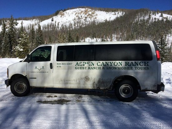 Aspen Canyon Ranch: the super deluxe shuttle van