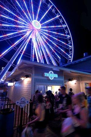Myrtle Beach Skywheel At Night