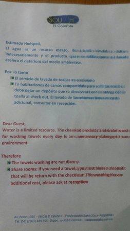 """South B&B El Calafate: Mala onda """"prohibido"""". Encima q el restaurant no funcionaba"""