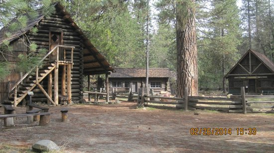 "Pioneer Yosemite History Center: Old buidlings in the ""village"""