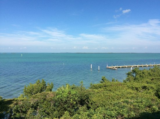 Hilton Key Largo Resort : view from my balcony of hotel dock and water
