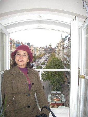 da janela do hotel Prague Inn