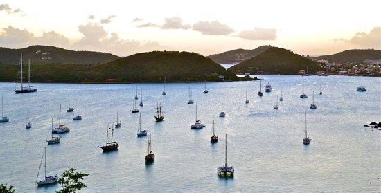 Bluebeard's Castle Resort: View of Charlotte Amalie's beautiful harbor.
