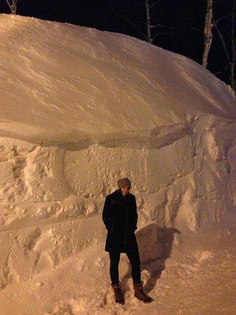Lodge Koropokkuru: Lots of snow!