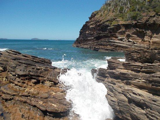 Ferradurinha Beach : Vista desde arriba de las rocas