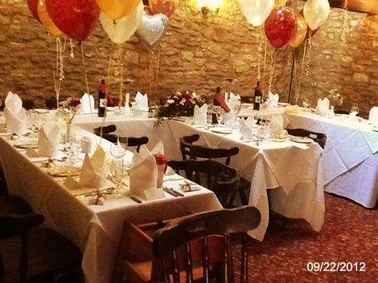 The Cotswold Arms: Our 300 year old converted barn, used for private functions