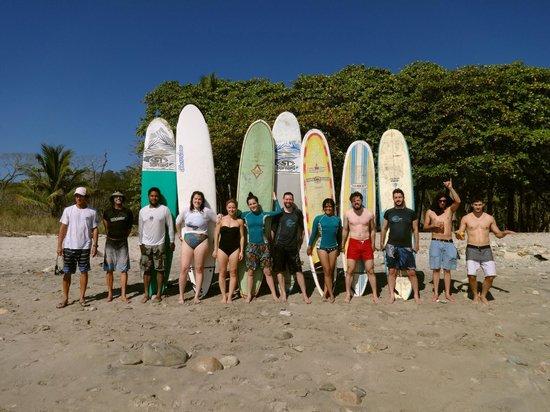 Casa MarBella: Surf lesson with Jim (far left)
