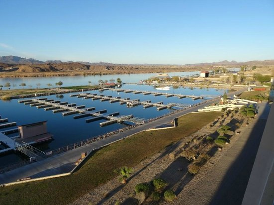 BlueWater Resort and Casino : View from 5th floor room of Colorado River