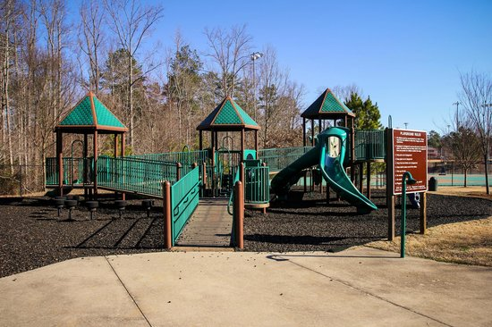 North Park: playground enar adapted field