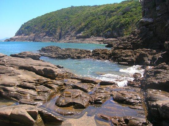 Foca Beach : Vista desde arriba de las piedras