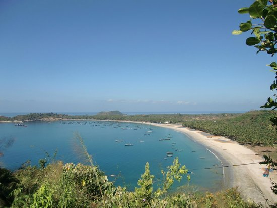 Ngapali Beach : View from mountain