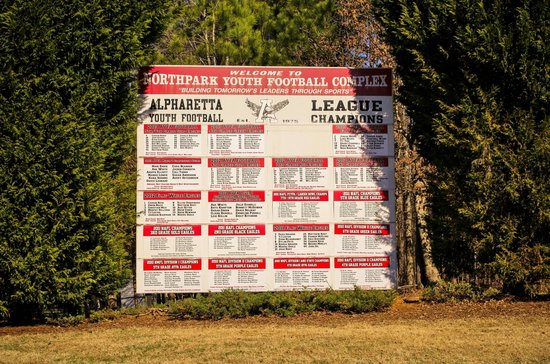 North Park: football sign