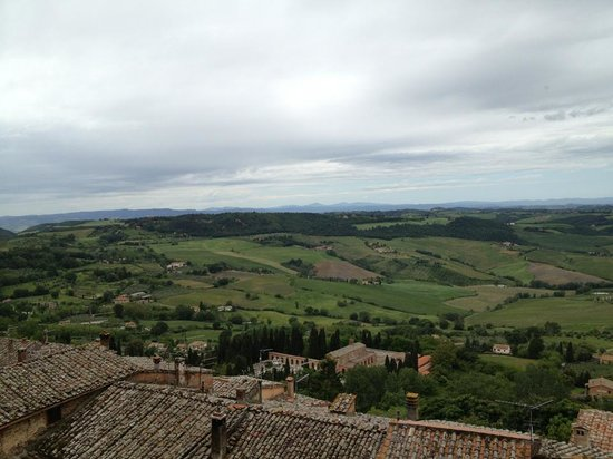 Osteria del Borgo: Amazing view from room (you can hear and smell the countryside!)