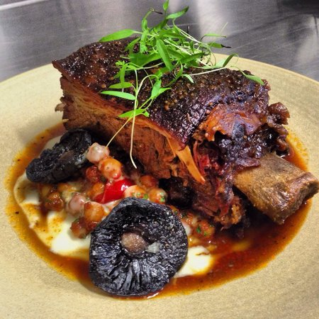 The Gem Bar And Dining BBQ Black Angus Short Rib With Southern Chickpea Ragout