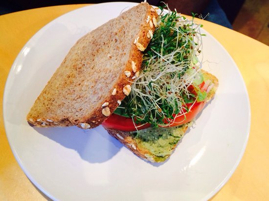 Luna's Living Kitchen: The avocado and tomato sandwich. I can't remember the name of it.