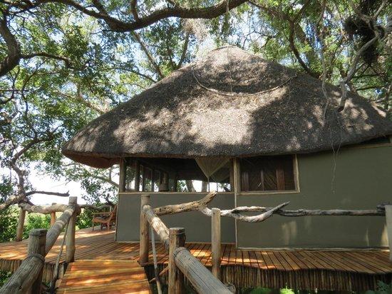 Kwetsani Camp: external view of cabins