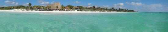 Poc-na Tulum: plage de l'Hôtel
