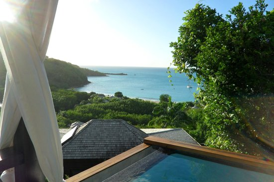 Hermitage Bay : View from room 37 plunge pool.