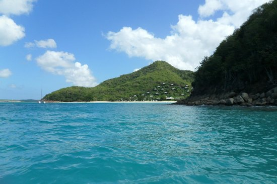 Hermitage Bay : View of the resort from the boat trip.