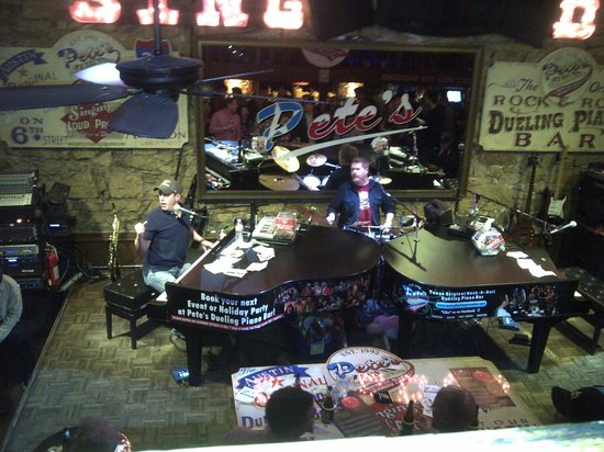 Pete's Dueling Piano Bar: From the Upper Section looking at the Stage
