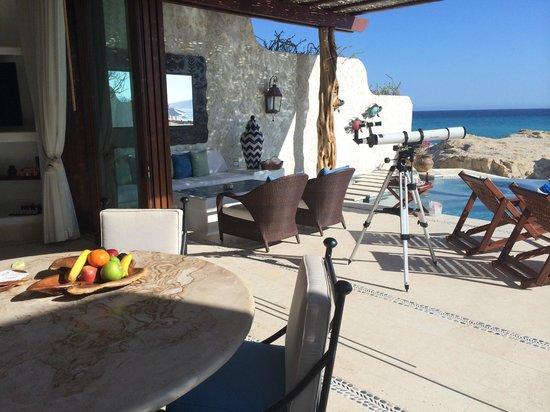 Las Ventanas al Paraiso, A Rosewood Resort: luxury beachfront villa! dining area and terrace.