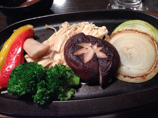 Gyuan: Grilled vegies on request