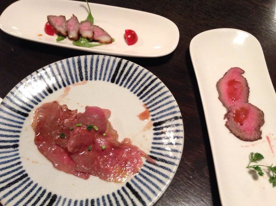 Gyuan: Trio of meat appetizer