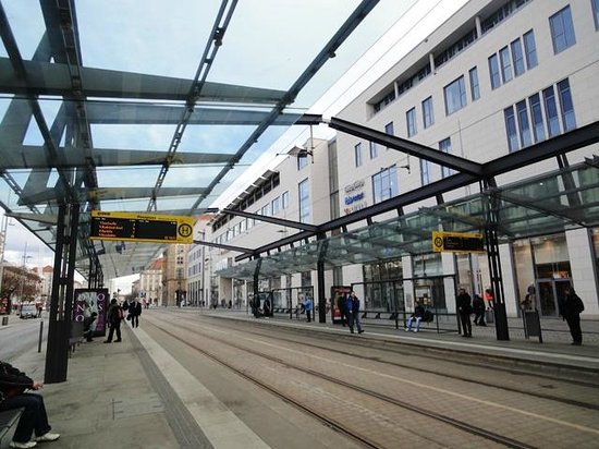 Ibis Budget Dresden City: Postplatz tram station and the hotel