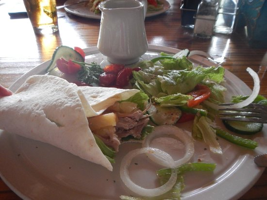 The Old House: Chicken wrap-Delicious!