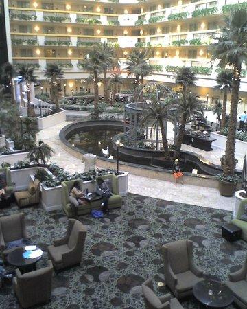 Embassy Suites by Hilton Las Vegas: Interior Atrium with pond & swans