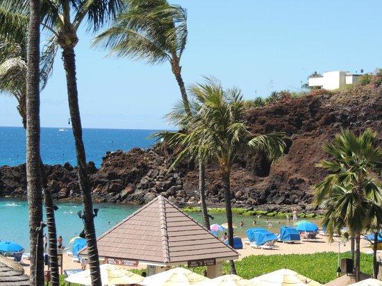 Sheraton Maui Resort & Spa : black rock - view from lobby