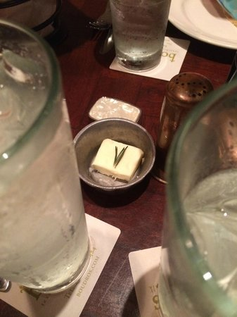 Boudro's on the Riverwalk: butter with rosemary