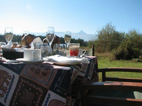 Fairmont Mount Kenya Safari Club: завтрак на горе